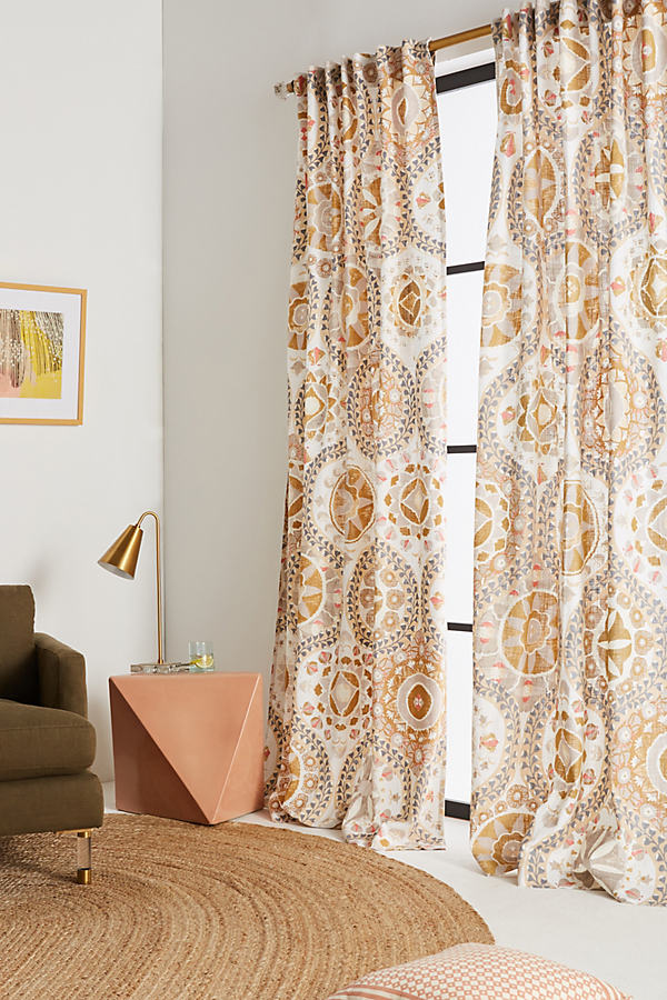 Merida Curtain - Neutral Motif, Size 50 X 108