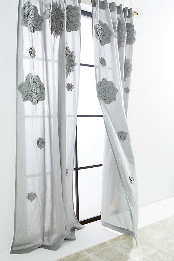 Georgina Curtain - Grey, Size 50 X 108