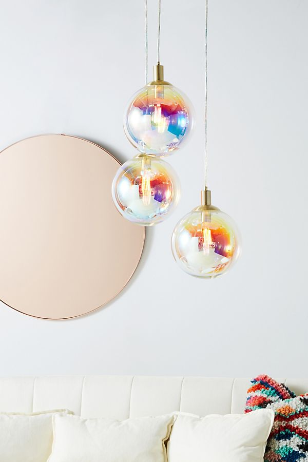 Slide View: 1: Chroma Bubble Pendant Trio