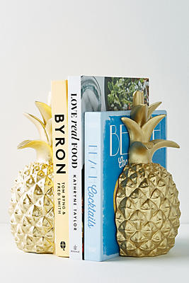 Slide View: 1: Pineapple Bookends