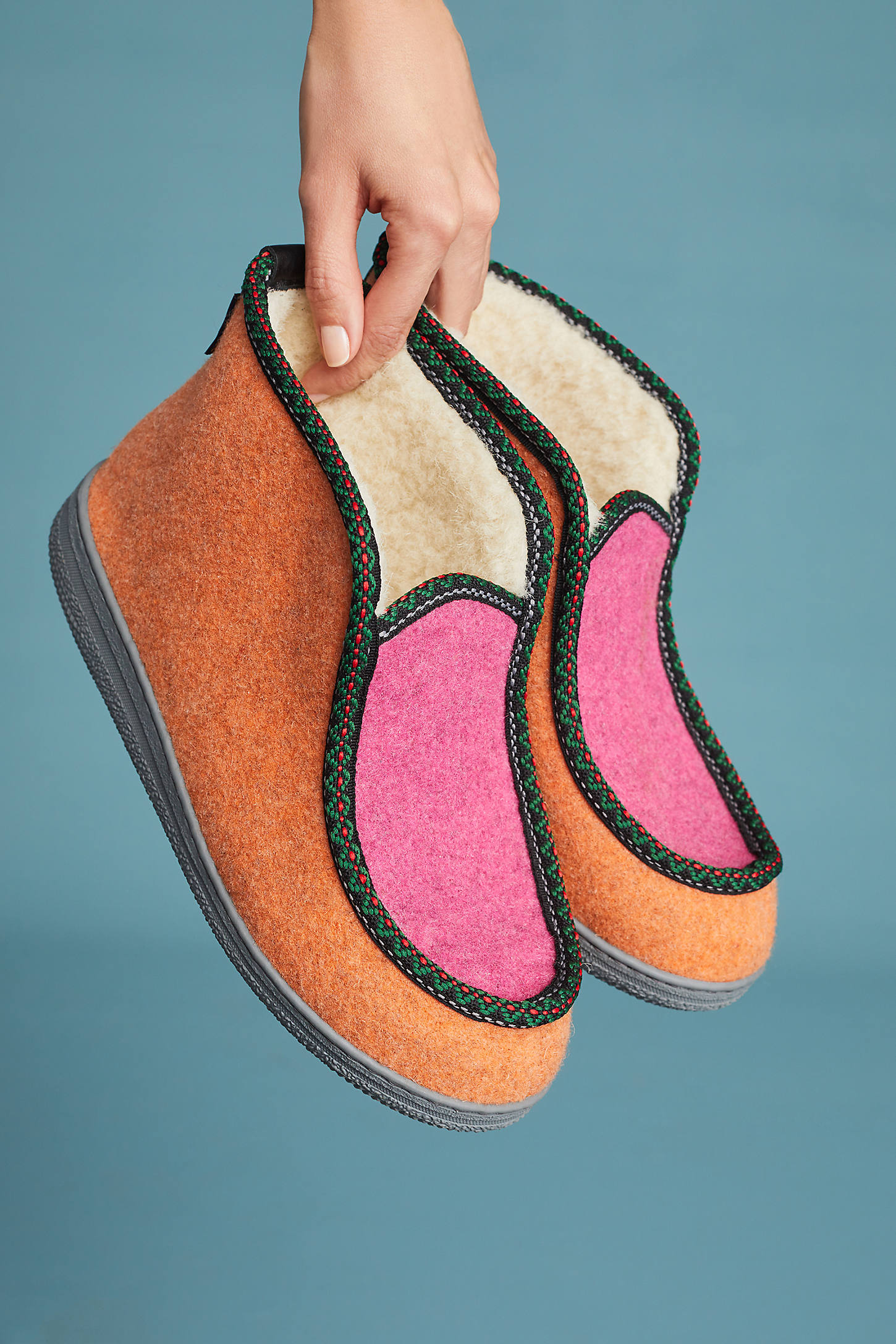 Penelope Chilvers Shearling-Lined Slipper Booties