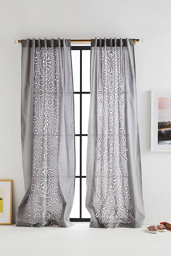 Amera Curtain - Grey, Size 50 X 84