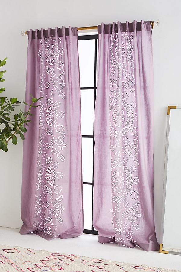 Amera Curtain - Lilac, Size 50 X 108