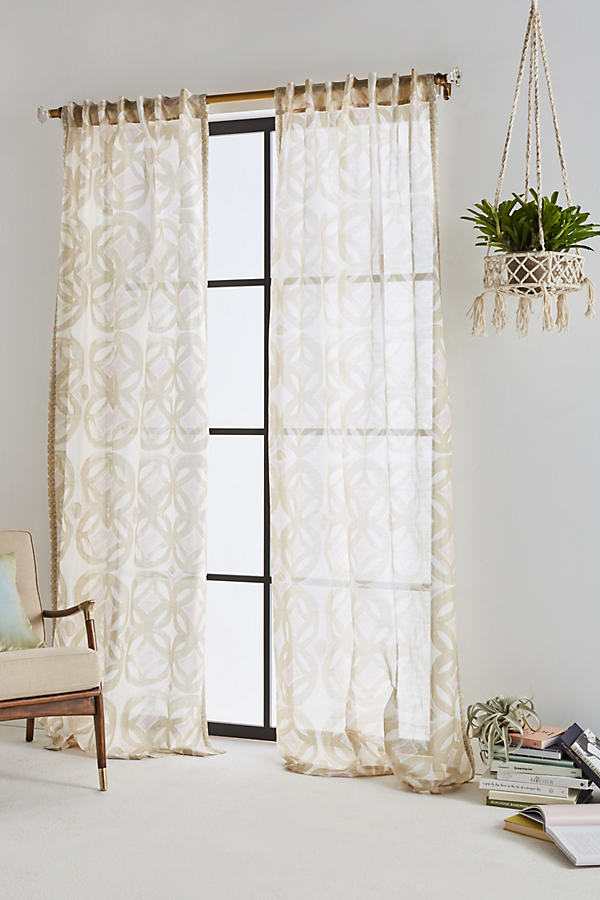 Avrille Curtain - Sand, Size 50 X 108