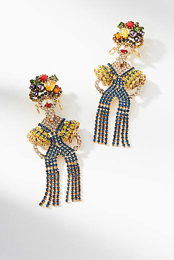 Maria Fringed Drop Earrings