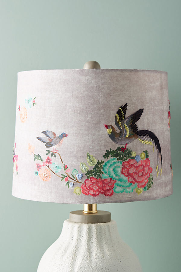 Gardenbird Lamp Shade - Grey, Size L