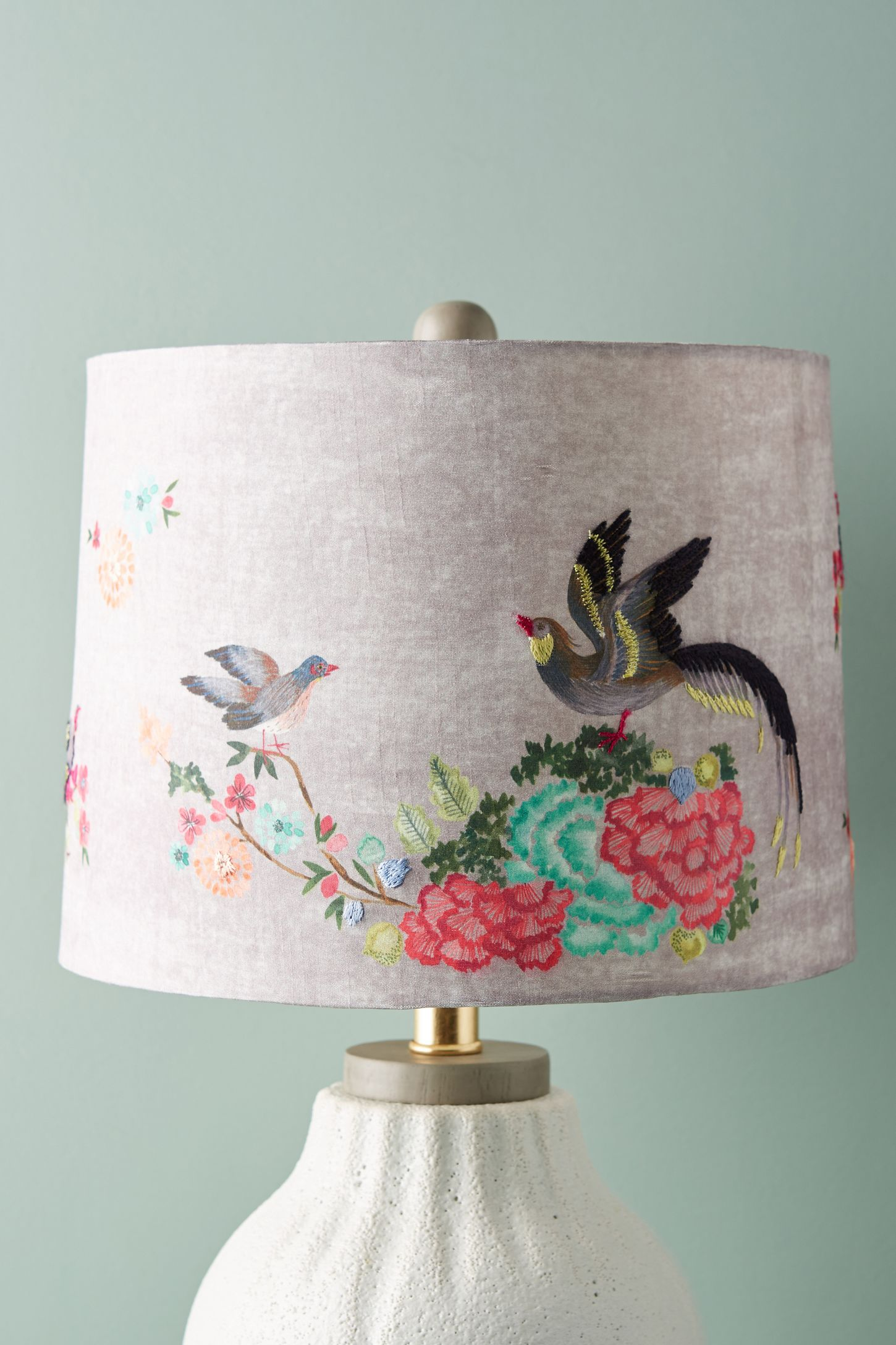 Size s lamp shades unique lamp shades anthropologie gardenbird lamp shade mozeypictures Choice Image