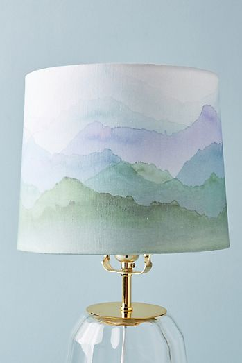 Size s lamp shades unique lamp shades anthropologie painted range lamp shade mozeypictures Choice Image