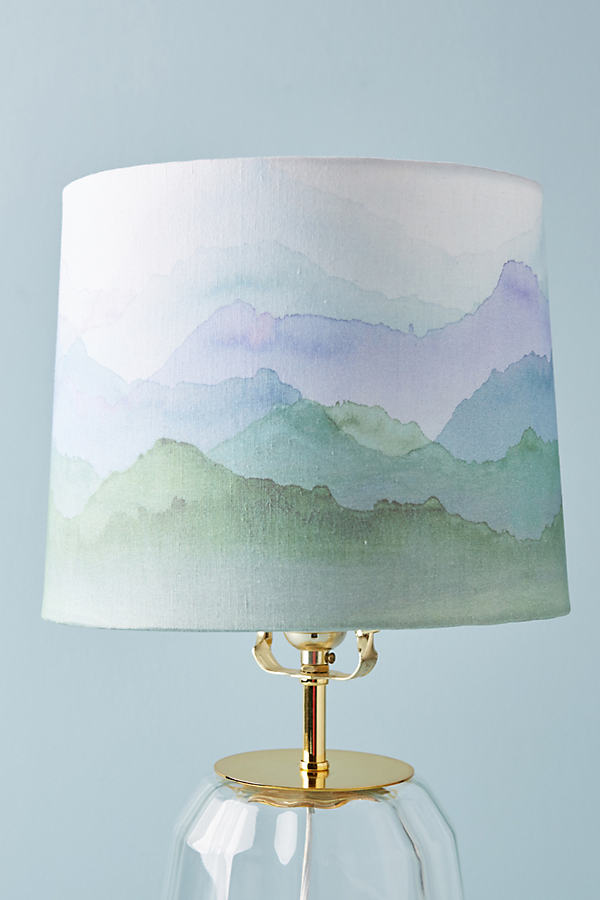 Painted Range Lamp Shade - Blue, Size S
