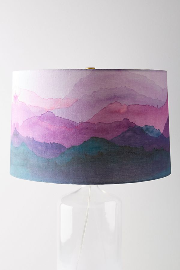 Painted range lamp shade anthropologie