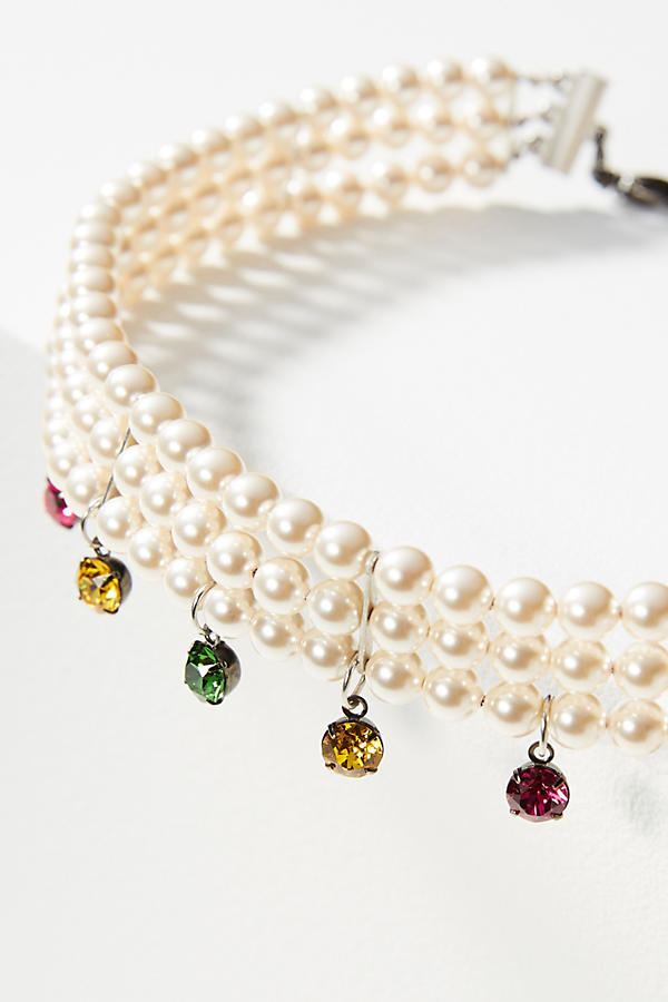 Slide View: 2: Heaven Crystal Choker Necklace