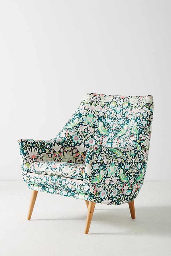 Slide View: 3: Liberty for Anthropologie Strawberry Thief Rivona Chair