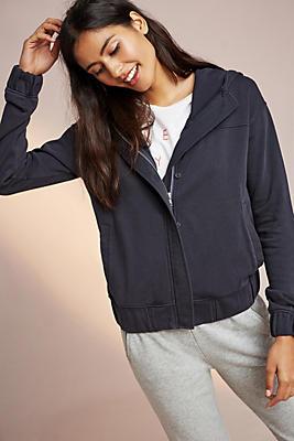 Slide View: 2: Weathered Hooded Jacket