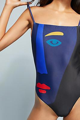 Slide View: 1: Mara Hoffman Georgette One-Piece Swimsuit