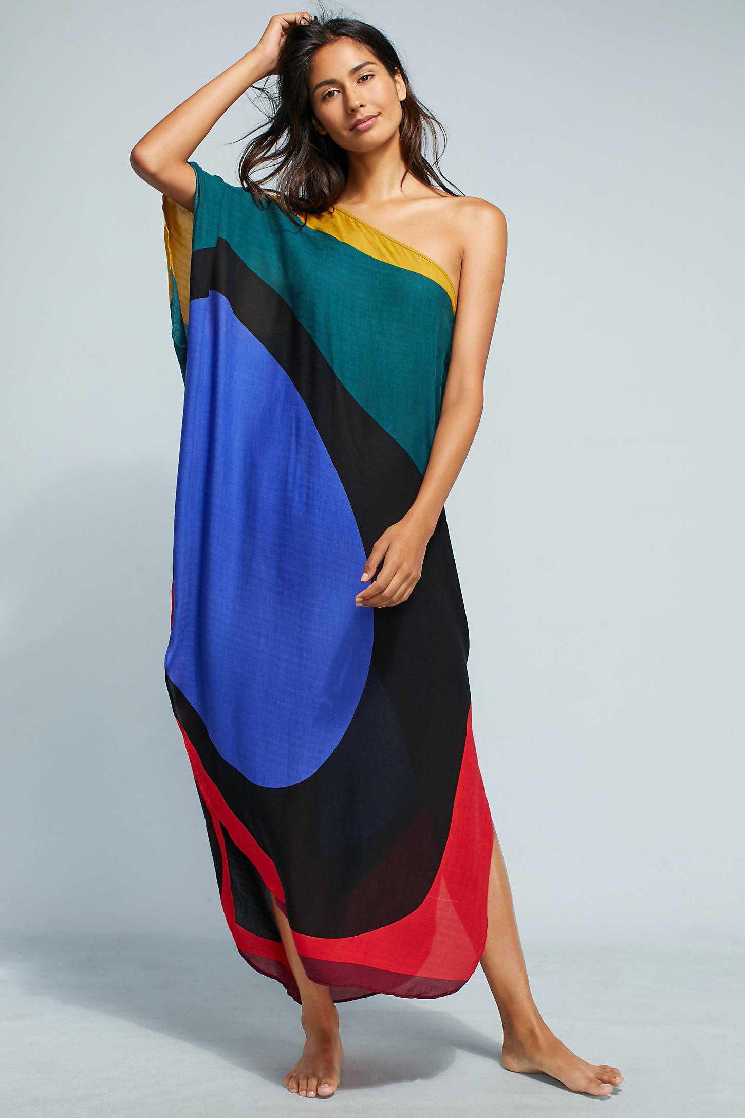 Mara Hoffman Noa One-Shoulder Cover-Up