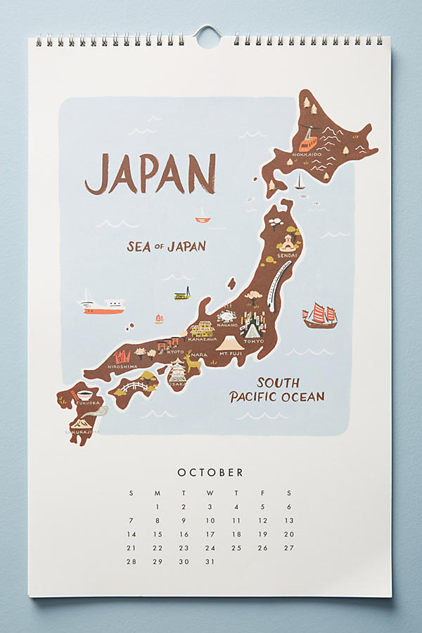 Maps Of The World Calendar Anthropologie - Japan map poster