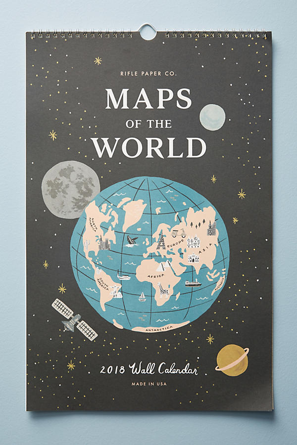 Slide View: 1: Maps Of The World 2018 Calendar