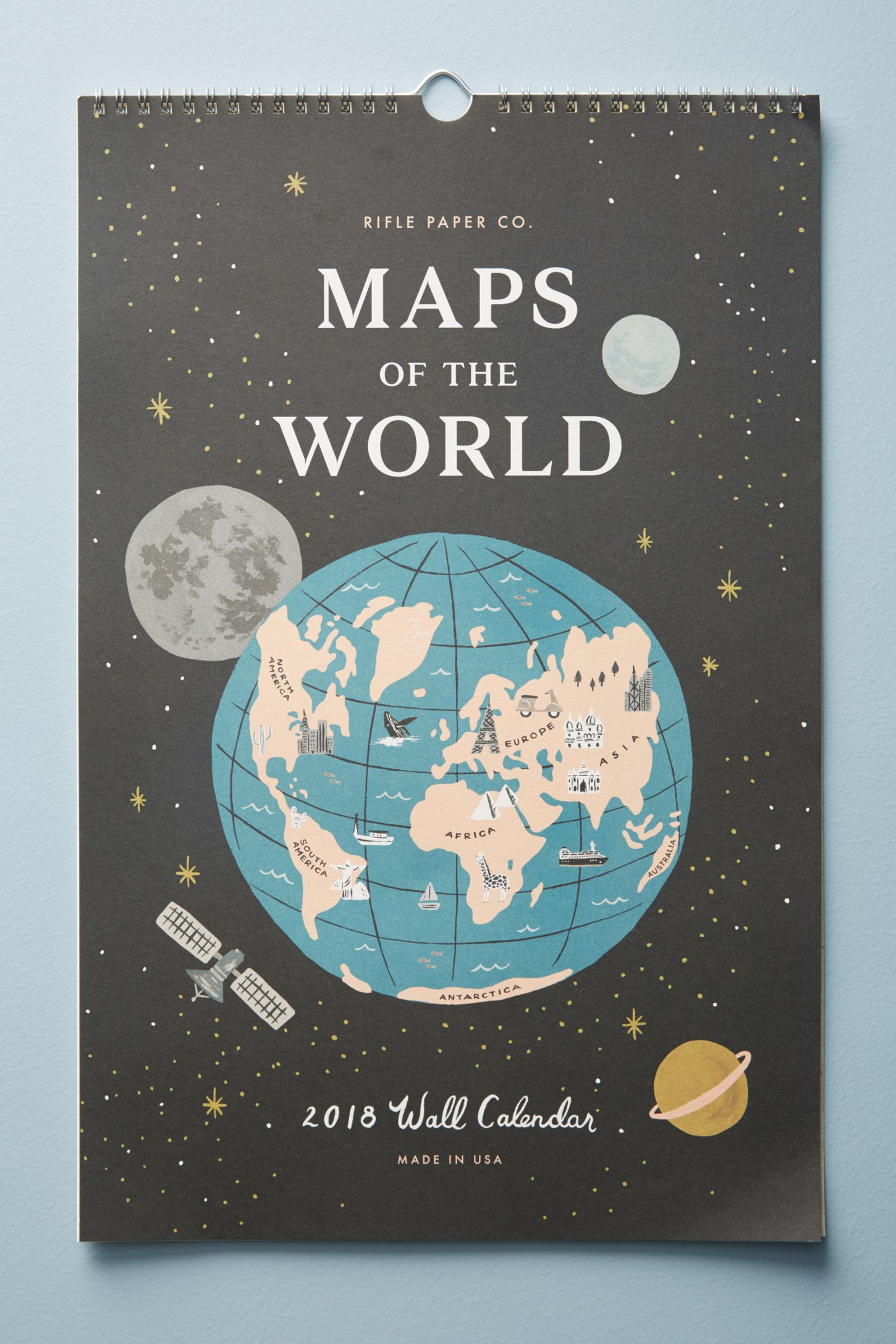 Maps of the world 2018 calendar anthropologie double tap to zoom gumiabroncs Images