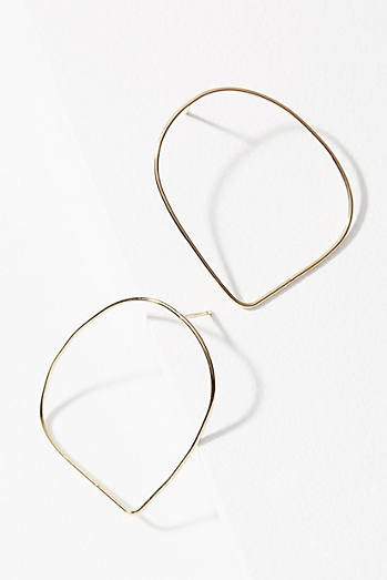 Hollow Wire Hoop Earrings