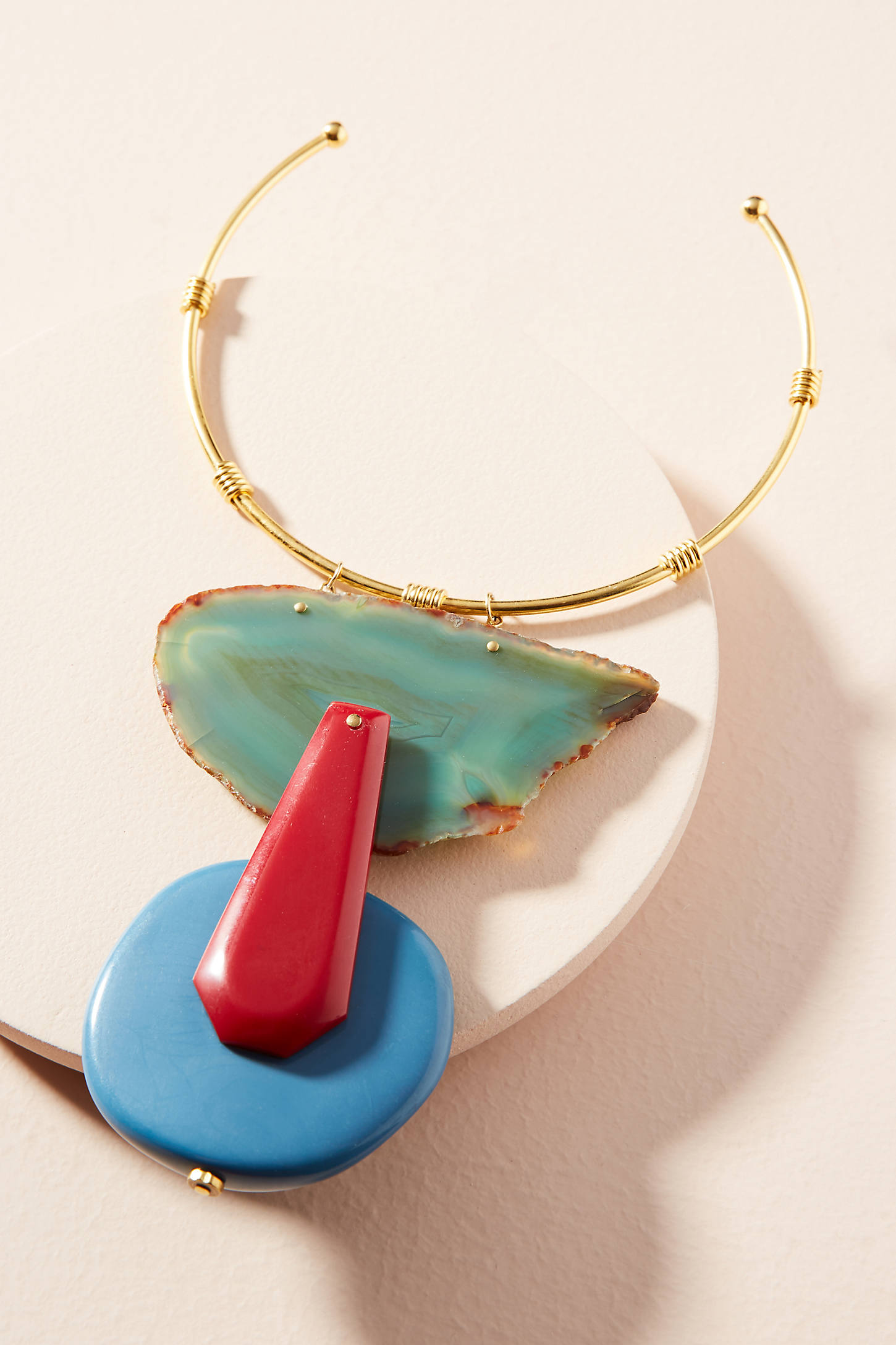 Agate Stone Collar Necklace