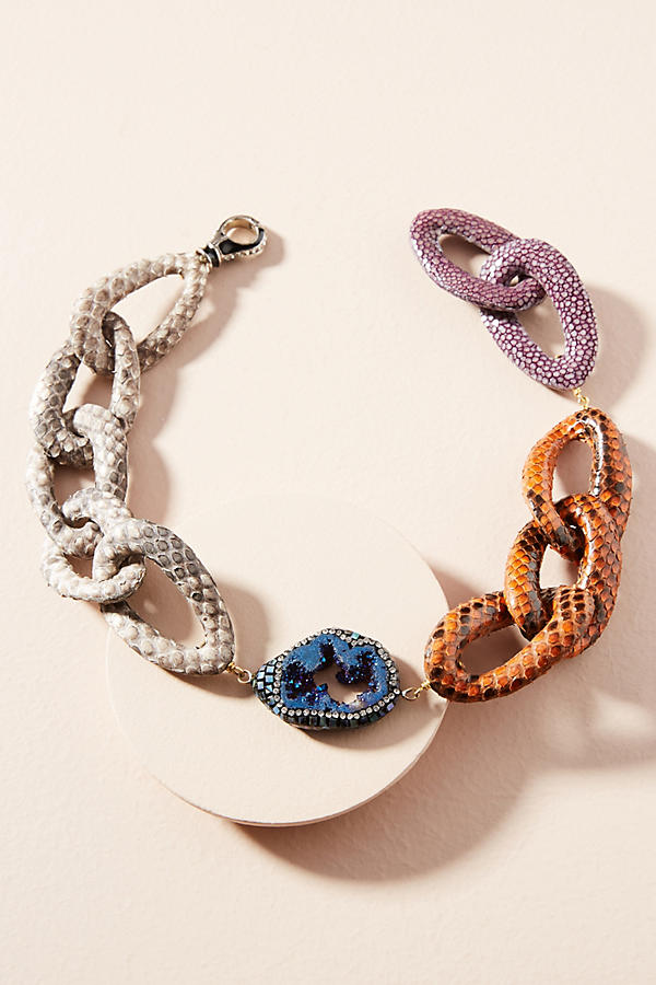Slide View: 1: Python Link Collar Necklace