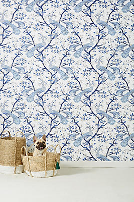 Slide View: 1: Pastel Plumage Wallpaper