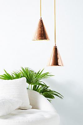 Slide View: 6: Copper Cone Pendant