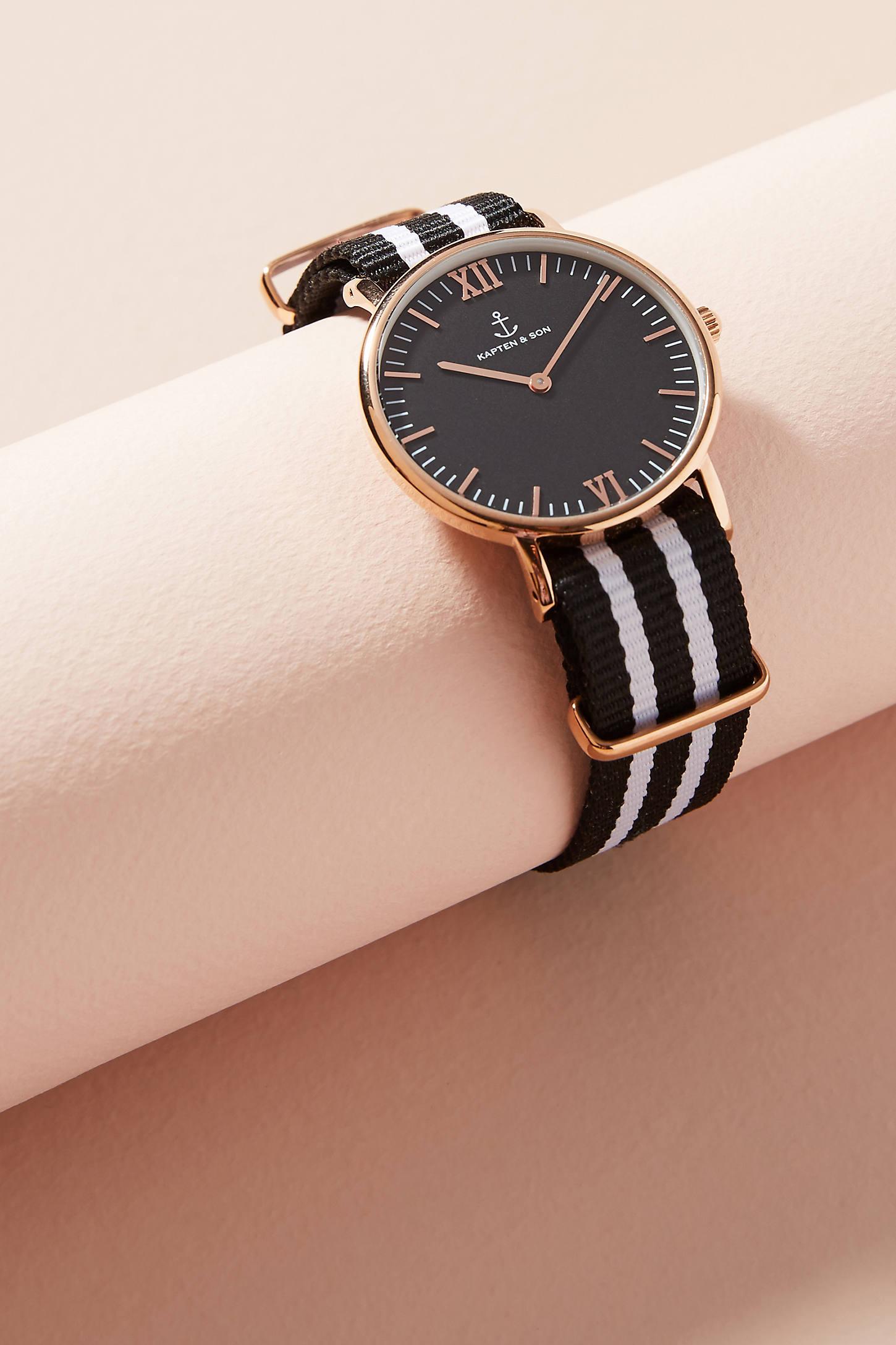 Black Striped Watch