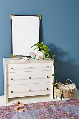 Slide View: 1: Merriton Three-Drawer Dresser