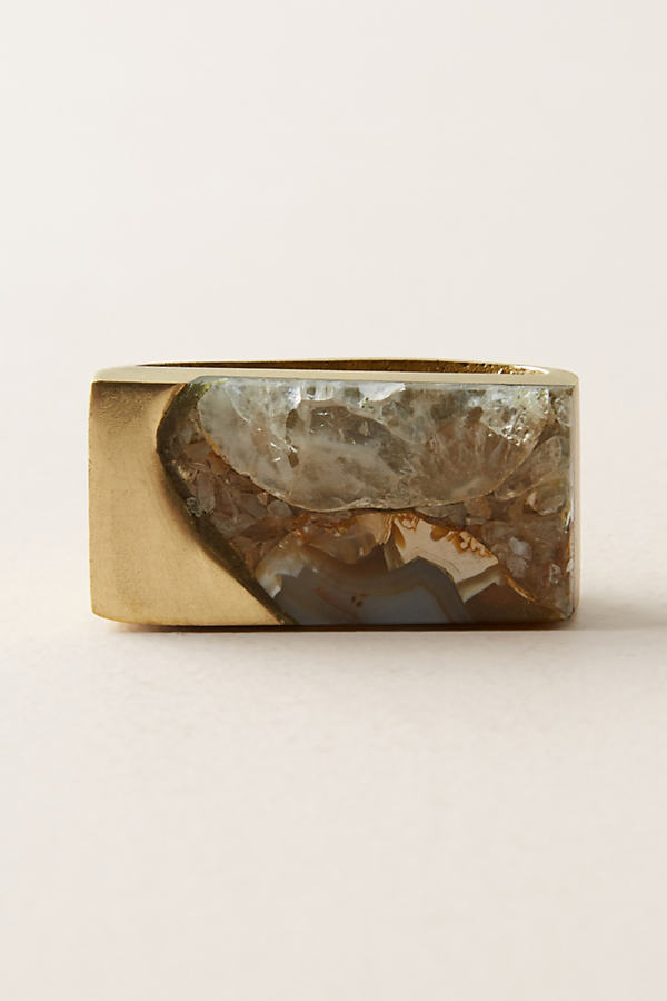 Captured Agate Knob - Bronze, Size Xs