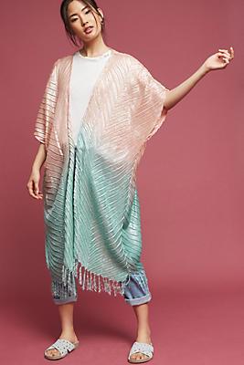 Slide View: 1: Ombre Sheen Kimono