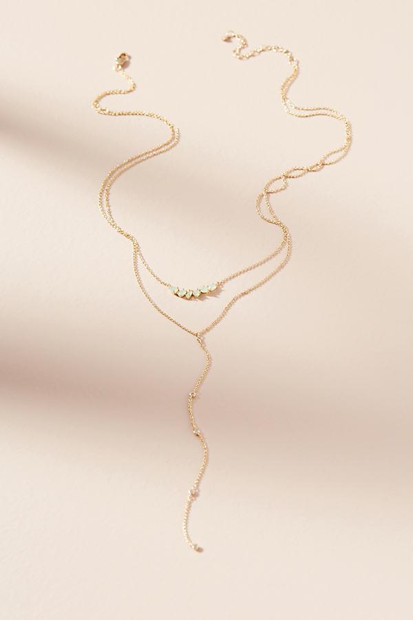 Jordyn Layered Necklace - Blue