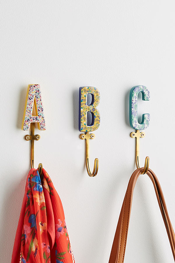 Liberty for Anthropologie Monogram Hook - A/s, Size E