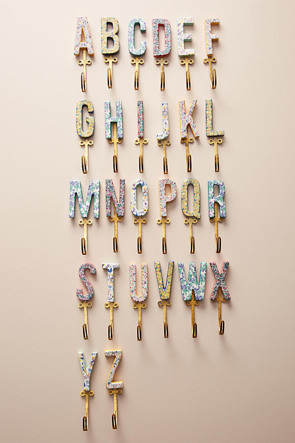 Slide View: 5: Liberty for Anthropologie Monogram Hook