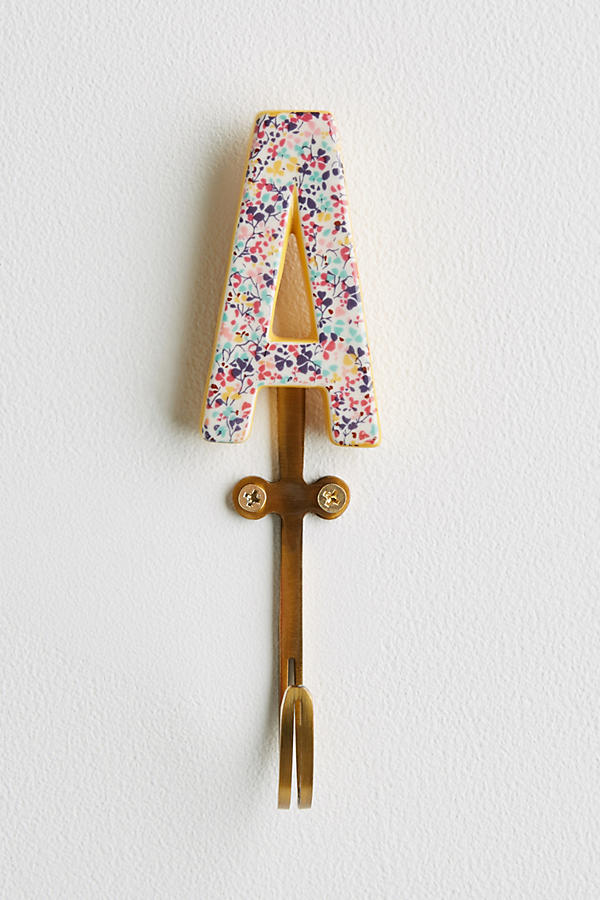 Slide View: 3: Liberty for Anthropologie Monogram Hook