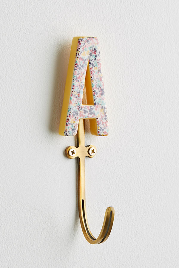 Slide View: 2: Liberty for Anthropologie Monogram Hook