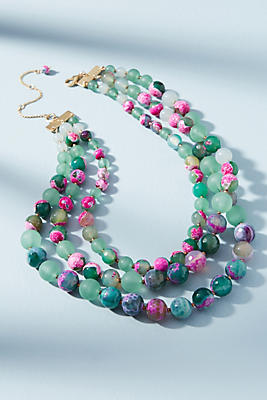 Lovely Things No.13 - Anthropologie Ilona Marbled Necklace