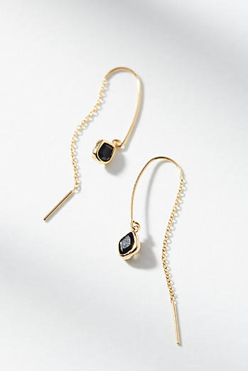 Dainty Stone Threader Earrings