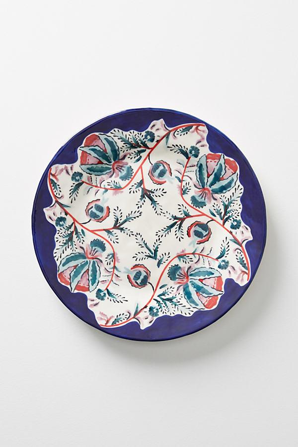 Salma Side Plate - Blue Motif, Size Salad