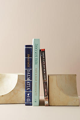 Slide View: 2: Sculpted Wood Bookends