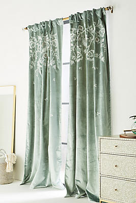 Slide View: 1: Embroidered Elondra Curtain