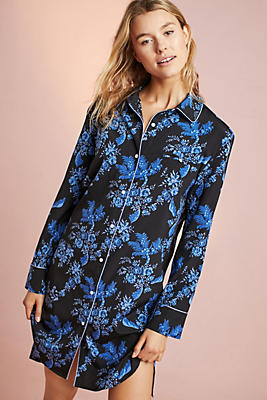 Slide View: 1: Stella McCartney Poppy Silk Sleep Shirt