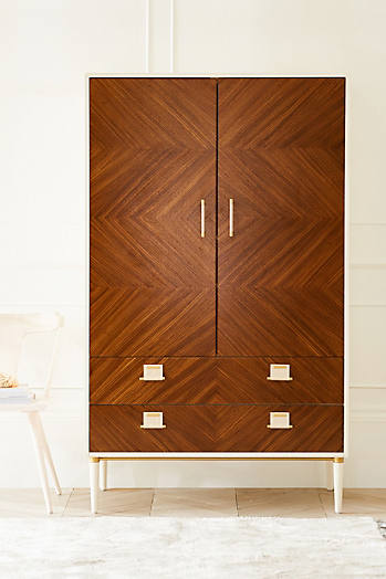 Slide View: 8: Geo-Marquetry Armoire