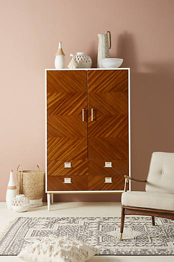 Slide View: 1: Geo-Marquetry Armoire