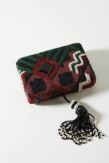 Geometric Beaded Clutch