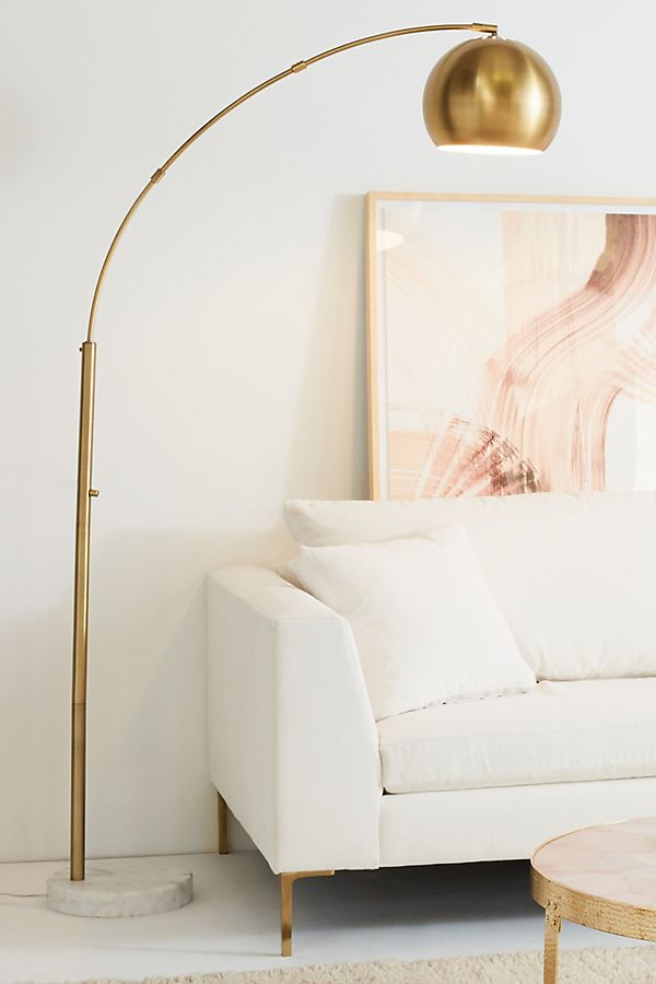 Actoria arc floor lamp anthropologie slide view 1 actoria arc floor lamp aloadofball Image collections
