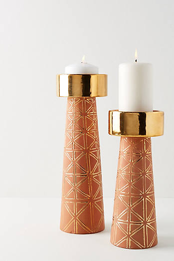 Geo Pillar Candle Holder