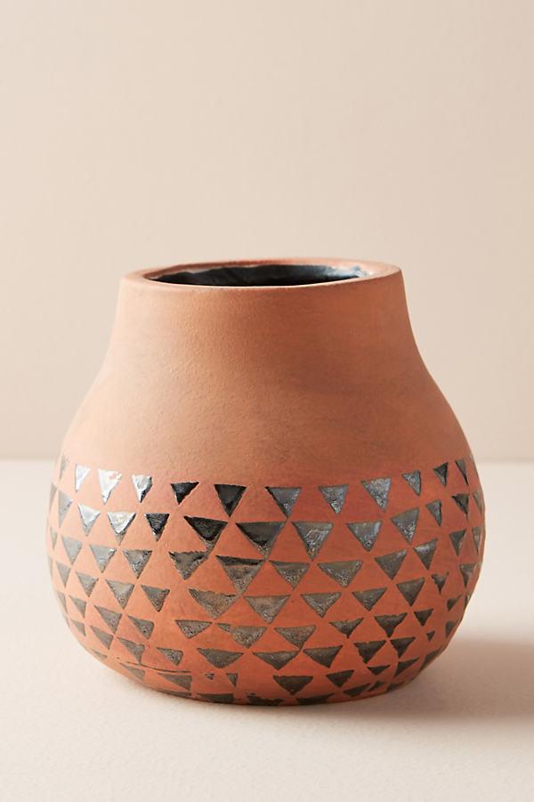 Gilded Luna Vase - Beige, Size S