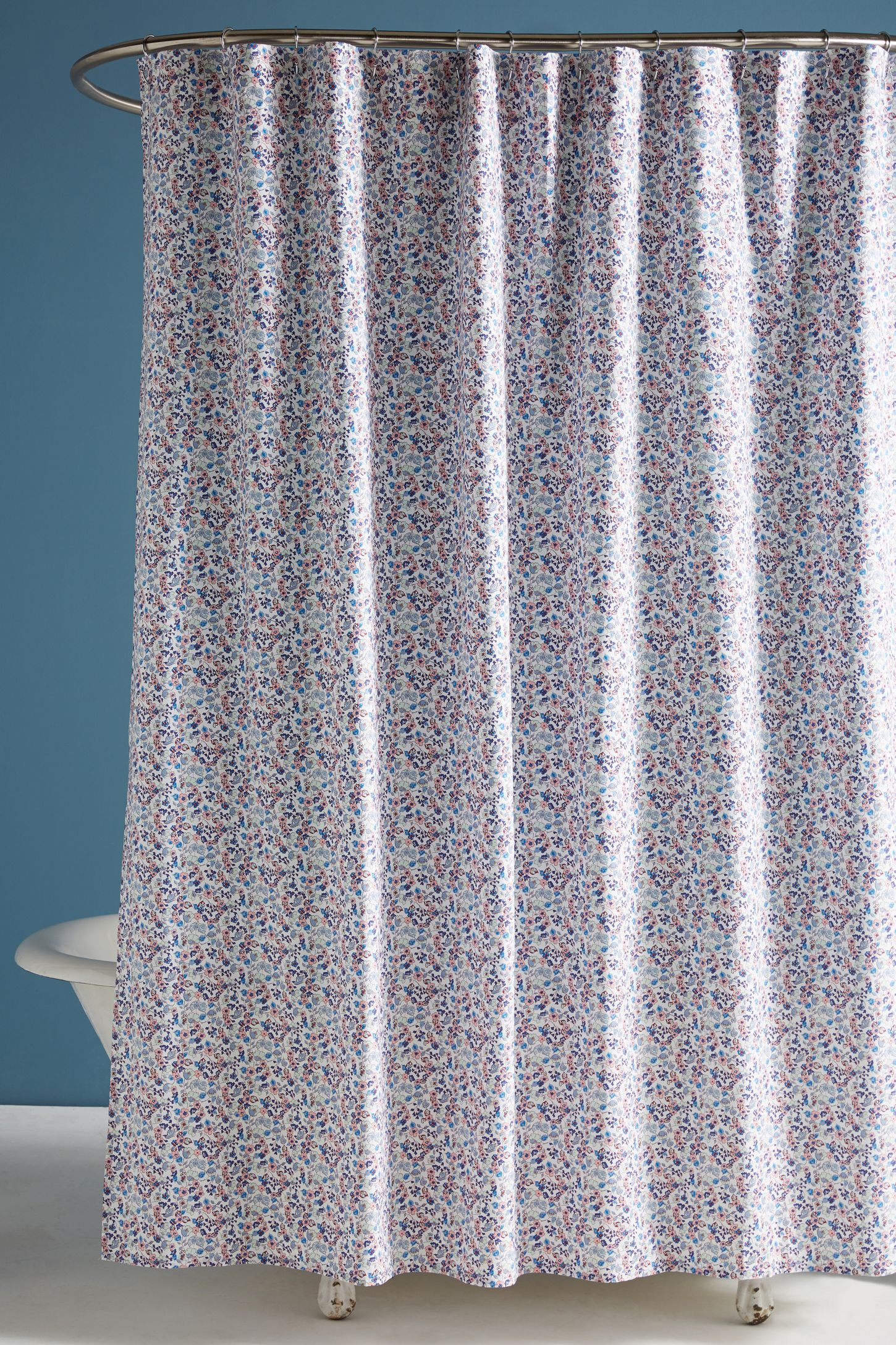 Bathroom shower curtains and matching accessories - Liberty For Anthropologie Bonnie Bloom Shower Curtain