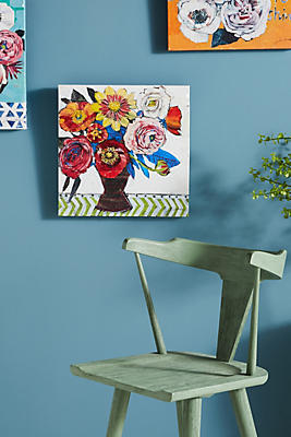 Slide View: 1: Floral Wall Art
